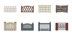 Different types of fences graphic